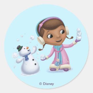 DOC McStuffins雪の| DOCおよび薄ら寒い遊ぶこと ラウンドシール