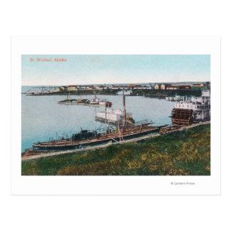 DockStの船の眺め。 ミハエル、AK ポストカード