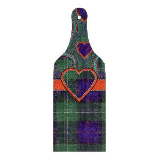 Doddの一族の格子縞のスコットランドのキルトのタータンチェック カッティングボード