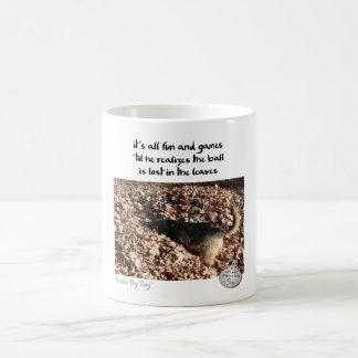 Dog™著俳句: 葉 コーヒーマグカップ