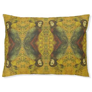 Dog Bed装飾的な鳥の女性 ペットベッド