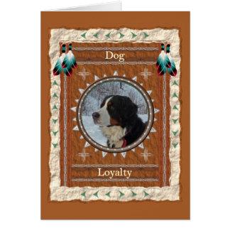 Dog  -Loyalty- Custom Greeting Card カード