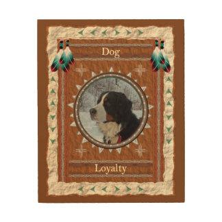 Dog  -Loyalty- Wood Canvas ウッドウォールアート