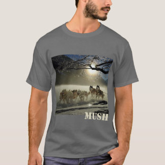 Dog Sled Team Image Mush Personalized Tシャツ