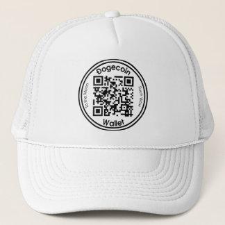 Dogecoinの財布QRコード円形の帽子 キャップ