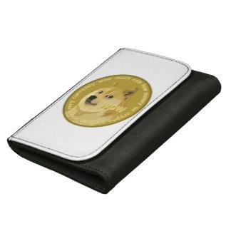 Dogecoinの革財布