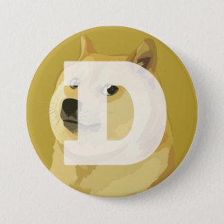 Dogecoinボタン 7.6cm 丸型バッジ