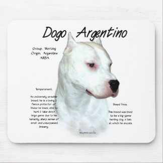 Dogo Argentinoの歴史のデザイン マウスパッド