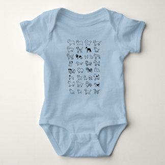 Dogs - Babies ベビーボディスーツ