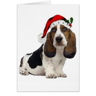 Dogs~Original Ditzy Notecard~Bassettの猟犬 カード
