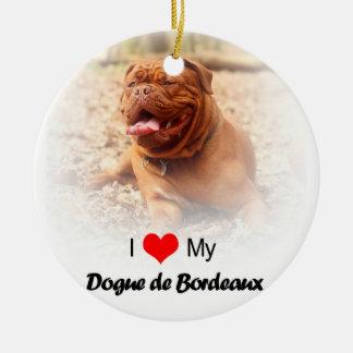 Dogue De Borde Frenchのマスティフのクリスマスのオーナメント セラミックオーナメント