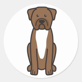 Dogue de Bordeaux Dogの漫画 ラウンドシール