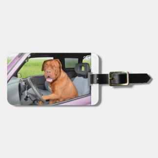 Dogue de Bordeaux driving.png ラゲッジタグ