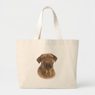 Dogue De Bordeaux Portait ラージトートバッグ