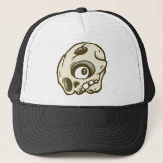 DOLLAの茶色のskullieの帽子 キャップ