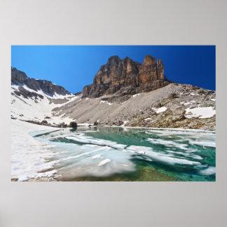 Dolomiti -湖Pisciadu ポスター