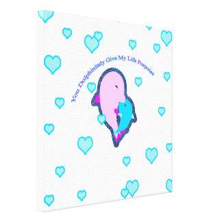 Dolphinitely私の生命ネズミイルカを与えます キャンバスプリント