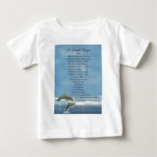 dolphins=popeのfrancis=のSt Francisのシンプルの祈りの言葉 ベビーTシャツ