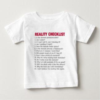 Domainingの現実のチェックリスト ベビーTシャツ