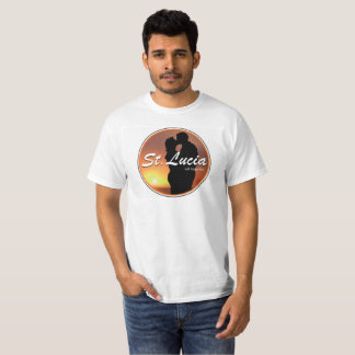 DOMILUCIAN -ドミニカおよびセントルシアのデザイン Tシャツ