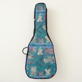 Dominoe + ジョーカーのギターのバッグまたは箱とのカード芸術 ギターケース