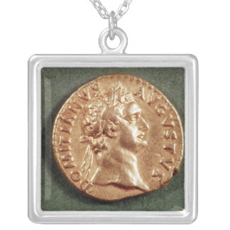 DomitianのAureus シルバープレートネックレス