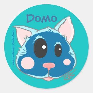 Domo子猫 ラウンドシール