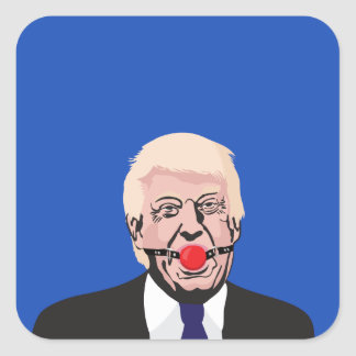 Donald J. Trump with gag - add your own text スクエアシール