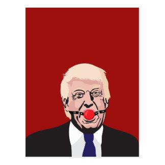 Donald J. Trump with red gag - DIY ポストカード