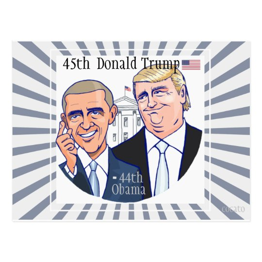 Donald Trump-45th President of the USA. ポストカード