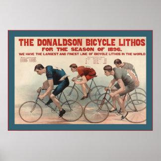 Donaldsonの自転車のLithosの~のヴィンテージの広告 ポスター