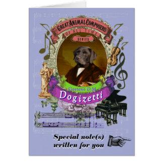 Donizetti Parody Dogizetti Animal Composer Dog カード