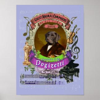 Donizetti Spoof Parody Dogizetti Dog Composer ポスター
