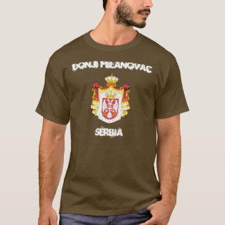 Donji Milanovac、紋章付き外衣が付いているセルビア Tシャツ