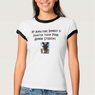 donkey1、donkey1は、私のミニチュアろばSmarte…です Tシャツ