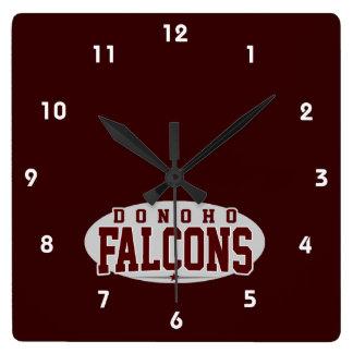 Donohoの高等学校; 《鳥》ハヤブサ スクエア壁時計