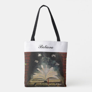 """""""Don't Stop Believing."""" All-Over-Print Tote Bag トートバッグ"""