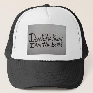 DONTCHAの帽子は私がベストであることを知っています! それ キャップ