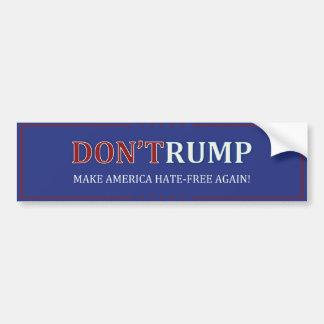 DON'TRUMP - #NEVERTRUMPのバンパーステッカー バンパーステッカー