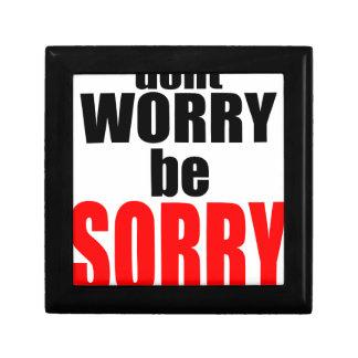 dontworrybesorry心配した幸せで残念なjoを心配しないで下さい ギフトボックス