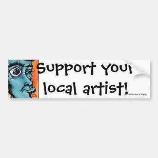 DoofusのPt2ブロックは、あなたのローカル芸術家を支えます! 、J… バンパーステッカー