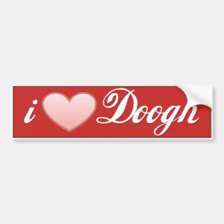 Dooghの金手紙のヨーグルトの飲み物 バンパーステッカー