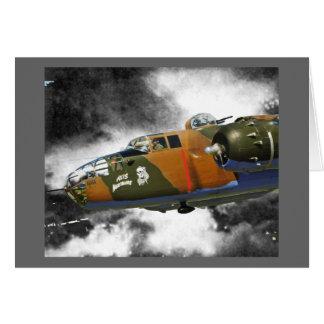Doolittlesの侵入者B-25 グリーティングカード