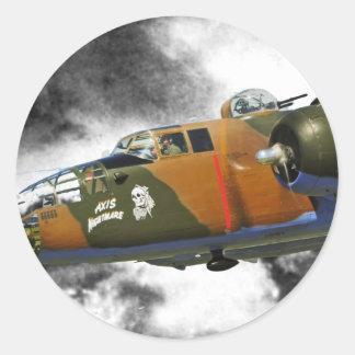 Doolittlesの侵入者B-25 ラウンドシール