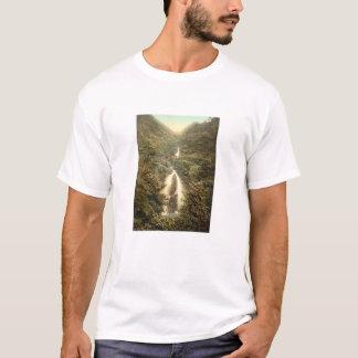 Doonの谷間の滝、Laxeyの人、イギリスの島 Tシャツ