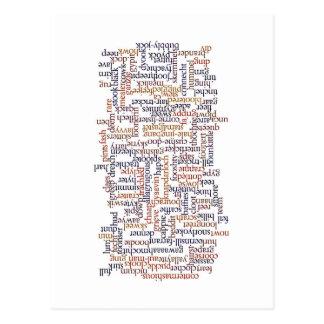 Doric単語の地図 ポストカード
