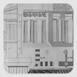 Doric寺院の計画、高度および詳細 スクエアシール