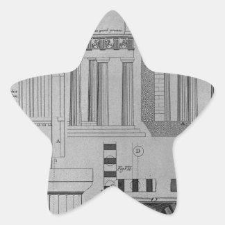 Doric寺院の計画、高度および詳細 星シール
