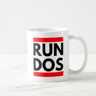 DOSを走って下さい コーヒーマグカップ