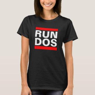DOSを走って下さい Tシャツ